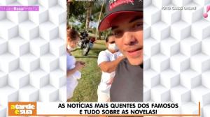 Exagero? Wesley Safadão gera polêmica ao mostrar babá com máscara