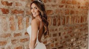 Nicole Bahls usou vestido de noiva com mais de 80 mil cristais