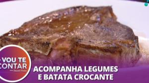 Receita de Bisteca grelhada com massa tagliolini ao alho e óleo