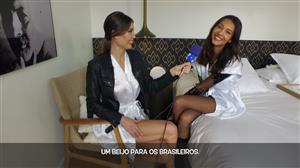 Júlia Pereira conversa com a top internacional Daniela de Jesus