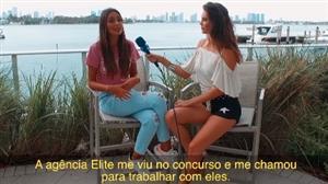 Júlia Pereira conversa com modelo e cantora venezuelana Romina Palmisano