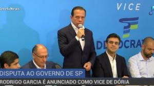 Rodrigo Garcia, do DEM, é anunciado como vice de Doria