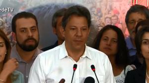 Em discurso pós-derrota, Fernando Haddad diz que defenderá liberdade
