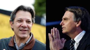 É a hora. Em quem você vai votar: Bolsonaro ou Haddad?
