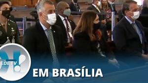 Jair Bolsonaro participa de celebração na igreja Nossa Senhora da Saúde