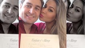 Mayra Cardi mostra certid�o de casamento nos EUA
