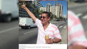 Zeca Pagodinho diz que est� 'liberado' e posta foto tomando chope