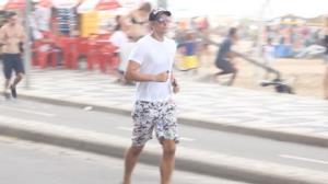 Reynaldo Gianecchini sua a camisa no RJ
