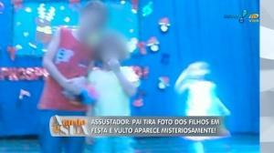Vulto misterioso aparece em foto que pai tirou dos filhos