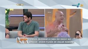 'Vamos quebrar a cara do Diego no ringue', dizem filhos de Maroni