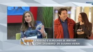 Faust�o e esposa se 'irritam' com desabafo de atores
