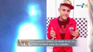 Para m�dium, esp�rito do irm�o de MC Gui apareceu em show do funkeiro