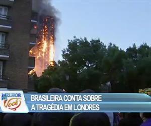 Brasileira conta detalhes de incêndio em Londres