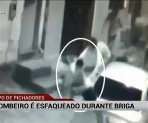 Bombeiro é esfaqueado durante briga com pichadores em Goiânia