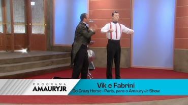 Vik e Fabrini fazem número especial para o Amaury Jr. Show