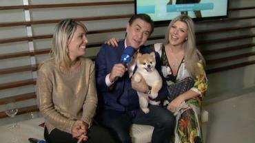 Amaury Jr. entrevista o cão Paçoca em evento na RedeTV!