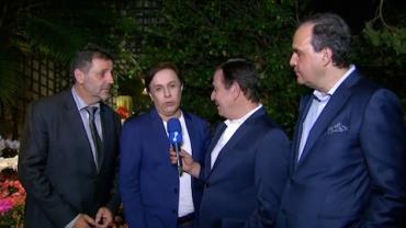 Tom Cavalcante imita Lula em festa de João Doria
