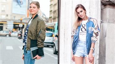 """Jaqueta """"bomber' é a nova tendência da moda"""