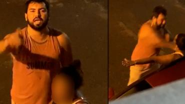 Homem flagrado agredindo mulher se entrega à polícia na Bahia