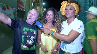 Flagras de famosos nos camarotes da Sapucaí fazem a festa do público