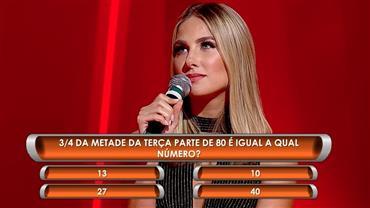 Desafio coloca à prova conhecimentos matemáticos de Marthina e Beto Barbosa