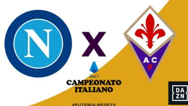 RedeTV! transmite ao vivo Napoli x Fiorentina às 16h30 deste sábado (18)
