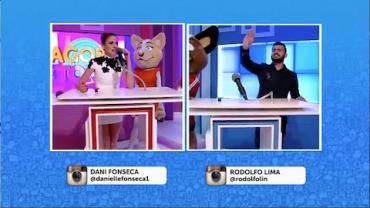 "Rodolfo e Dani lideram as equipes na divertida ""guerra dos sexos"""