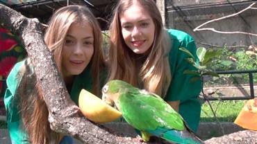 Modelos visitam maior viveiro de aves da Mata Atlântica