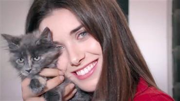 Modelos visitam casa especializada em criar e cuidar de gatos