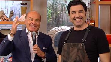 Marcelo de Carvalho aprova receita de pizza feita no Edu Guedes e Você
