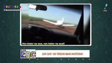 Polícia que combate contrabando quebra asa de avião com o carro