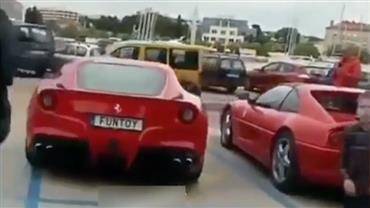 Veja o que o ronco do motor de uma Ferrari é capaz de fazer