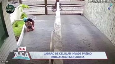Ladrão de celular invade prédio para atacar moradora