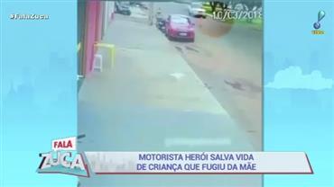 Motorista desvia de criança que fugiu da mãe e evita atropelamento