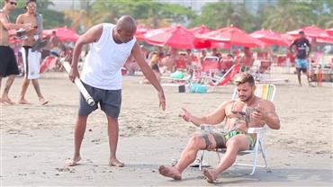 Folgado quer pescar na praia e provoca a fúria da rapaziada