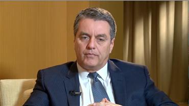 Roberto Azevêdo, diretor-geral da OMC, e Rubens Barbosa, Embaixador