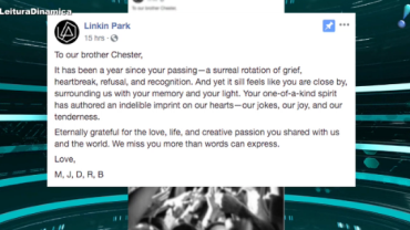 Linkin Park faz homenagem a Chester Bennington em 1º ano de morte