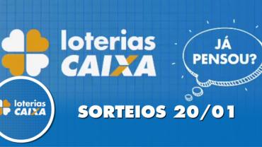 Loterias Caixa: Quina e Lotofácil 20/01