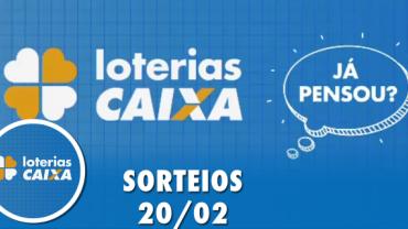 Loterias Caixa: Quina, Dia de Sorte, Dupla Sena e mais 20/02/2020