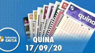 Resultado da Quina - Concurso nº 5368 - 17/09/2020