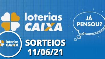 Loterias Caixa: Quina, Lotofácil, Lotomania 11/06/2021