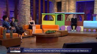 Luciano Nassyn e Patrícia Marx contam histórias com Silvio Santos e Pelé