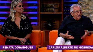 Carlos Alberto de Nóbrega e esposa são os convidados desta terça (05)