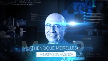 """""""Mariana Godoy Entrevista"""" recebe o ministro da Fazenda Henrique Meirelles"""