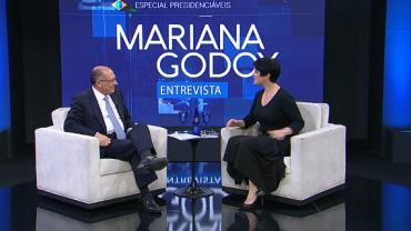 Mariana Godoy recebe o presidenciável Geraldo Alckmin (PSDB) - Íntegra