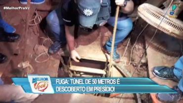 Túnel de 50 metros é descoberto em presídio