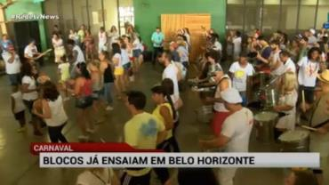 Blocos de carnaval já ensaiam em Belo Horizonte