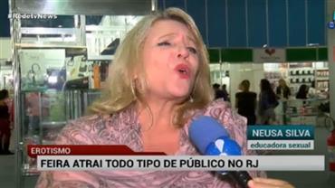 Feira erótica no RJ atrai todo tipo de público