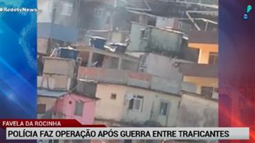 Policiais militares e civis fazem operação na Rocinha