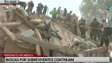 Buscas por sobreviventes de terremoto no México continuam